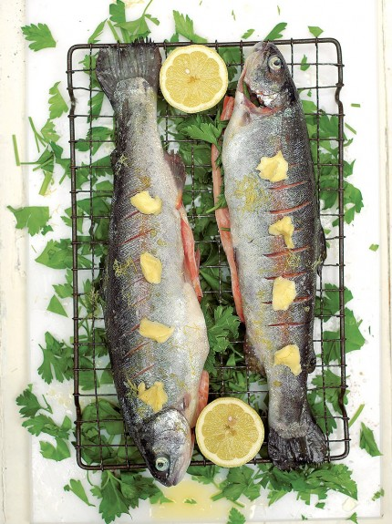 Grilled Trout with Parsley and Lemon