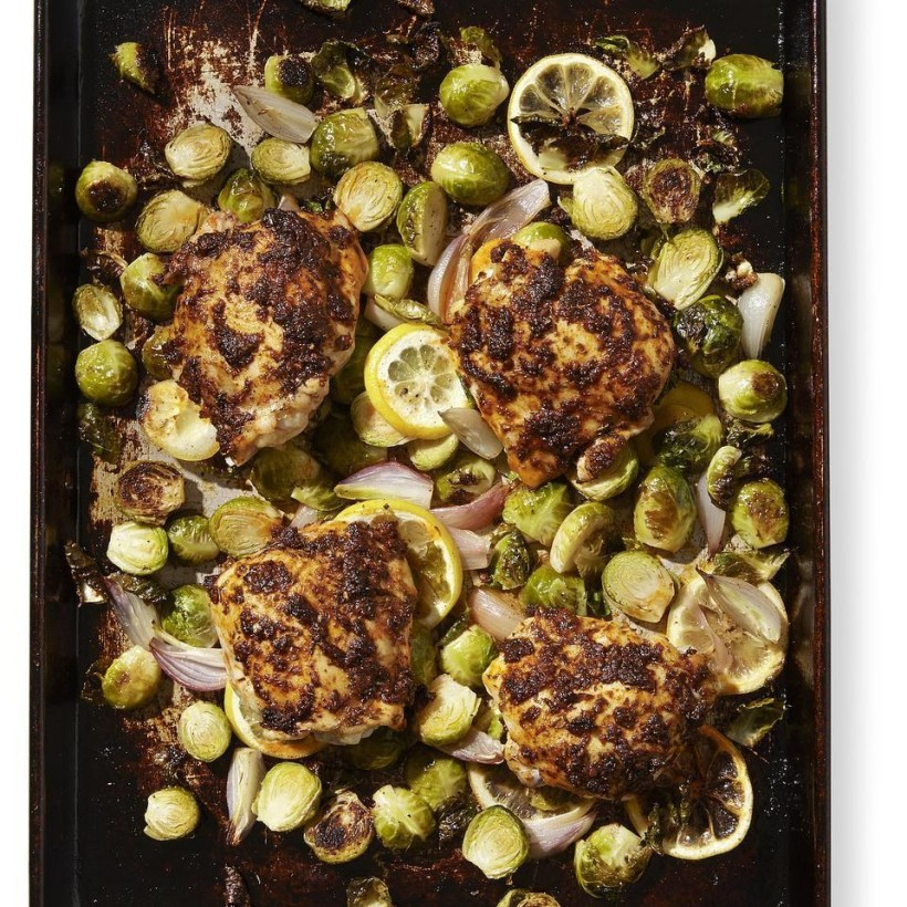 Paprika Chicken with Brussel Sprouts